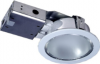 Horizontal Recessed Round Downlight c/w Frosted Glass